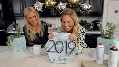 DIY New Years Eve Centerpieces
